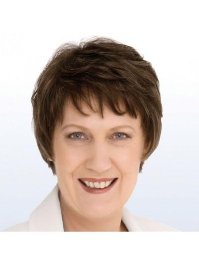 Helen Clark Headshot Capless Short Wig
