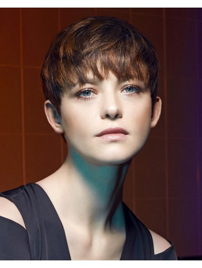 Urchin Cut Straight Capless Short Wig