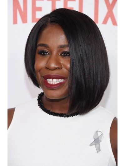 Aduba Shoulder Length Hairstyles Asymmetrical Wig