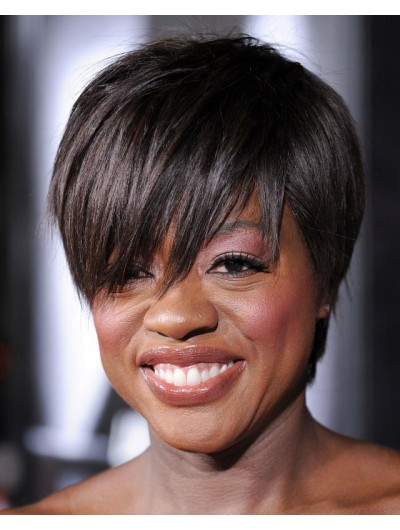 Straight Capless Short Synthetic Hair Afro Wig