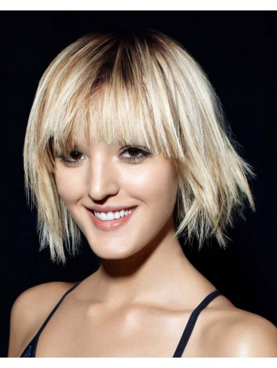 Youthful Short Haircut Straight Capless Wig
