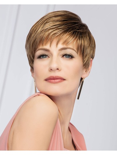 Straight Capless Short Synthetic Hair Layered Brown Wig