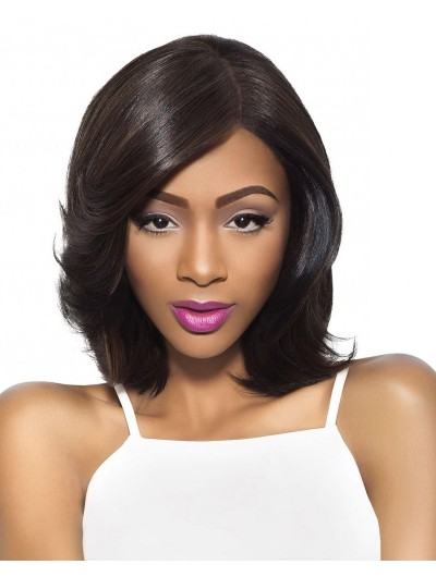 Lace Front Medium Synthetic Hair Wavy Afro Wig