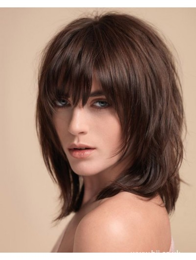Capless Synthetic Hair Straight Wig With Bangs