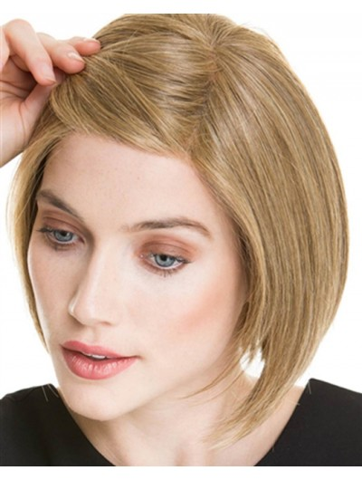 Lace Front Medium Synthetic Hair Straight Blonde Bobs Wig