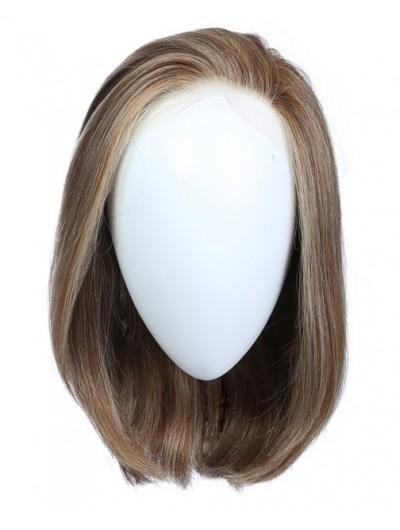 Full Lace Medium Synthetic Hair Wavy Gray Wig