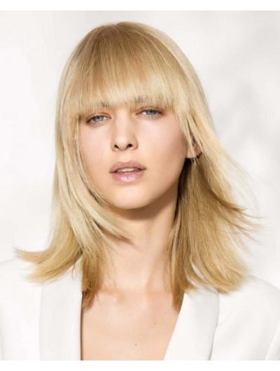 Capless Medium Remy Human Hair Straight Blonde Wig