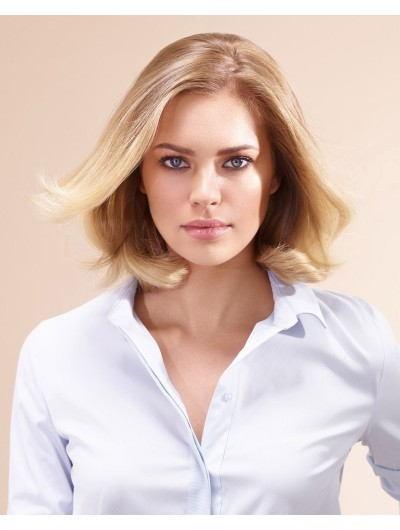 Lace Front Synthetic Hair Wavy Blonde Wig Without Bangs