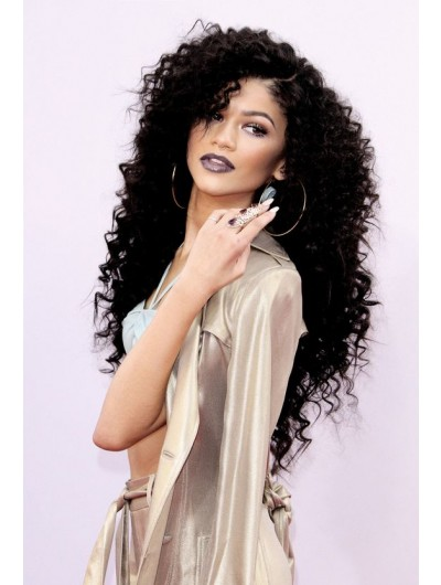 Lace Front Long Synthetic Hair Curly Afro Wig
