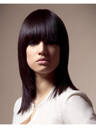 Shoulder Length Bob Straight Wig With Bangs