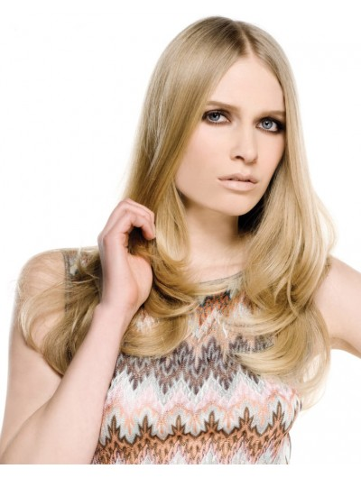 Youthful Long Hairstyle Synthetic Wavy Wig