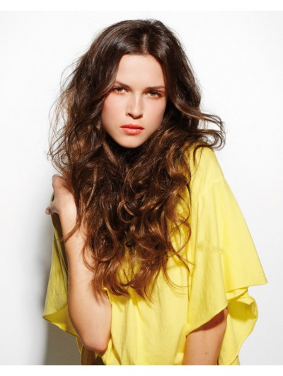 Long Hair Wavy Lace Front Synthetic Wig