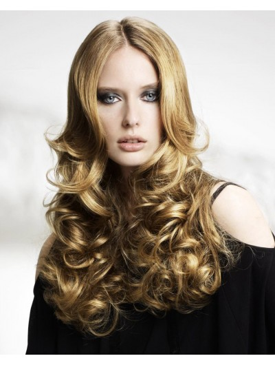 Rollers Styling Lace Front Long Wavy Wig