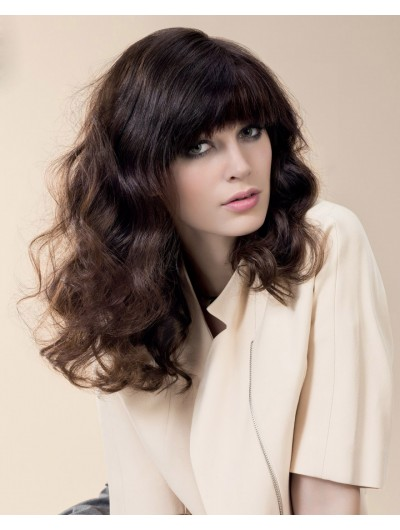Big Wavy Long Synthetic Hair Wig With Bangs
