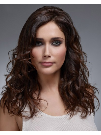 Casual Long Hairstyle Layers Natural Waves Wig