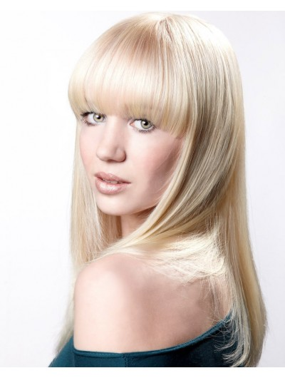 Classic Long Synthetic Hair Wig With Bangs