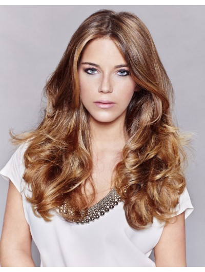 Classic Long Hairstyle Lace Front Wavy Wig