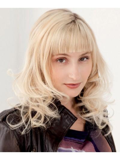 Capless Long Crp Blonde Hair Wig Bangs