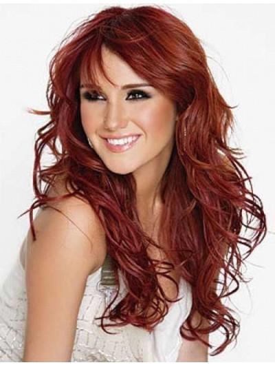 Dark Copper Hair Popular Long Hairstyles Wig