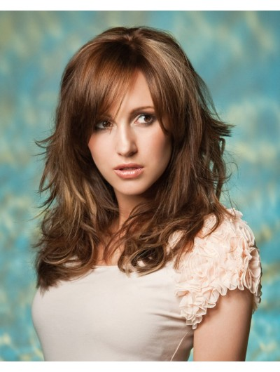 Easy Over Shoulder Hairstyle Wavy Wig
