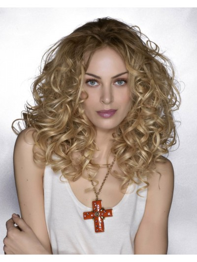Lace Front Long Synthetic Hair Curly Blonde Wig Without Bangs