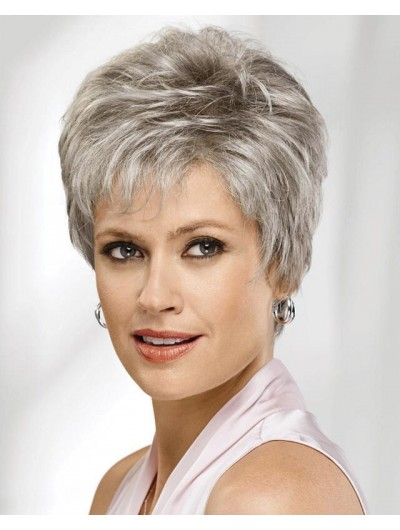 Capless Short Synthetic Hair Straight Boycuts Wig