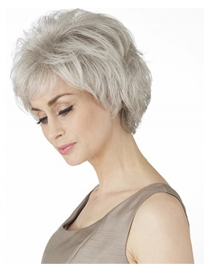Synthetic Hair Capless Wig With Bangs For Older Women