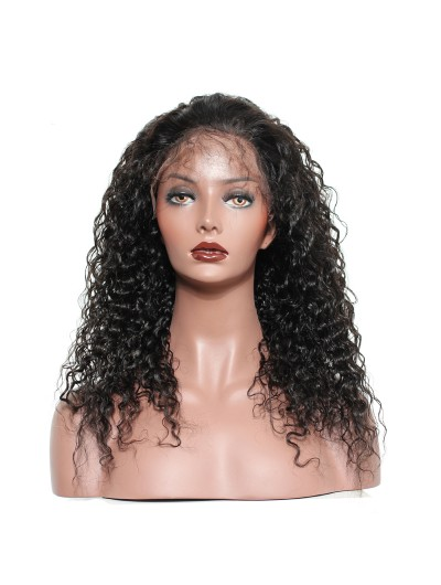 Curly Nature Color Brazilian Lace Front Human Hair Wigs