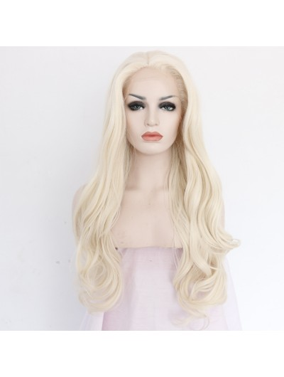Natural Long Body Wave Synthetic Blonde Lace Front Wig