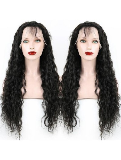 Water Wave Front Lace Wigs Brazilian Human Hair Wigs For Black Women and Wet Wavy